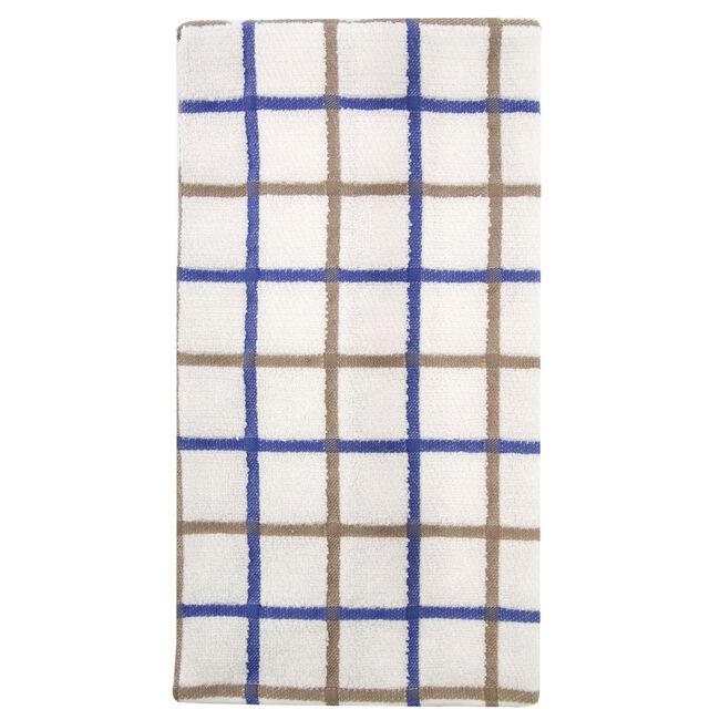 Multi Check Tea Towel Blue