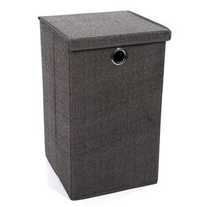 Tweed Dark Grey Foldable Laundry Hamper