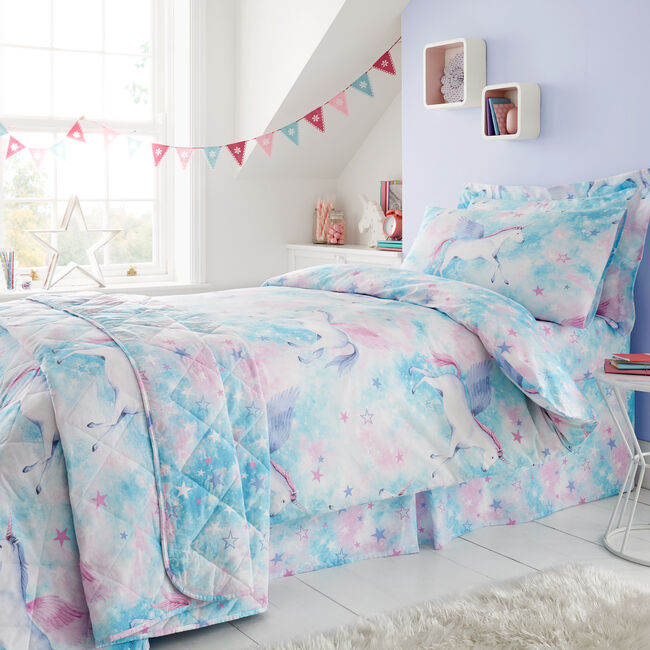 SINGLE DUVET COVER Mystical Unicorn