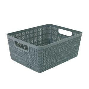 Hessian Blue Storage Basket 4L