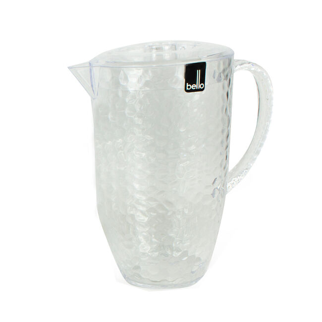 Dimple Pitcher with Lid - Clear