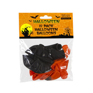 Orange and Black Halloween Balloons
