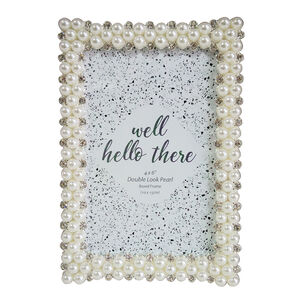 Double Look Pearl Boxed Photo Frame 4x6""