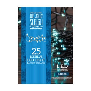 25 LED Lights Ice Blue