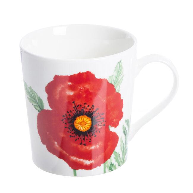 Woodland Poppies Fine China Mug