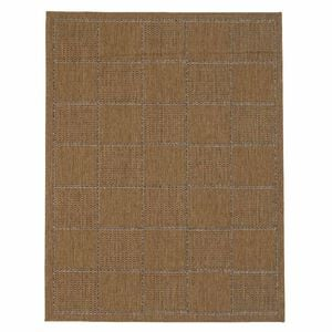 Checked Flatweave Doormat Natural