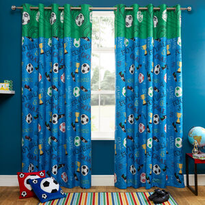 GOAL BLUE 66x54 Curtain