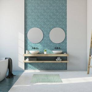 Horizon Bath Mat 40 x 60cm - Aquamarine