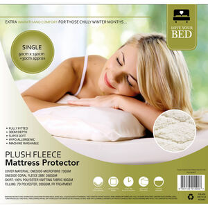PLUSH FLEECE SINGLE Mattress Protector