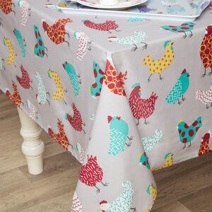 Happy Hens Table Cloth 160x230