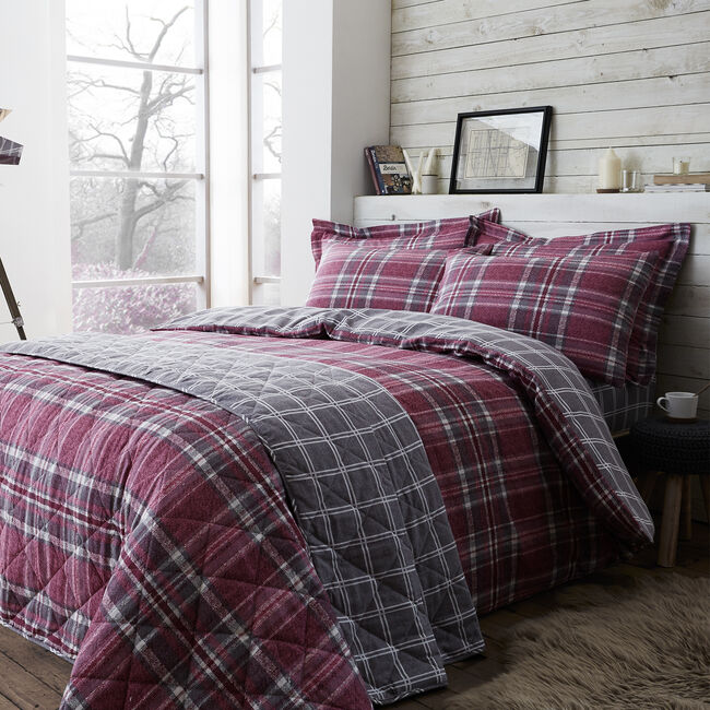 Brushed Cotton McGill Check Duvet Cover