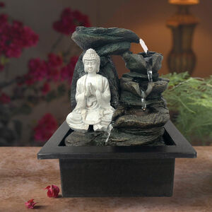 Buddha Tabletop Water Fountain with LED light