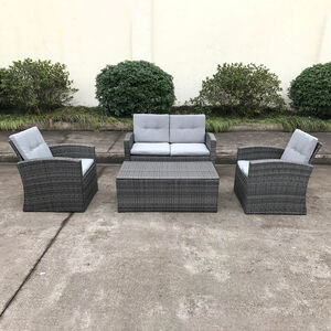 Castillo 4 Piece Rattan Garden Set