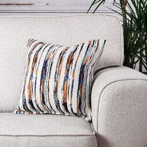 Aoife Orange Striped Cushion 45cm x 45cm