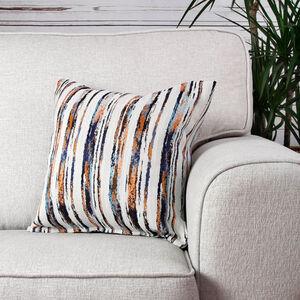 Aoife Orange Striped Cushion 45cm x 45cm