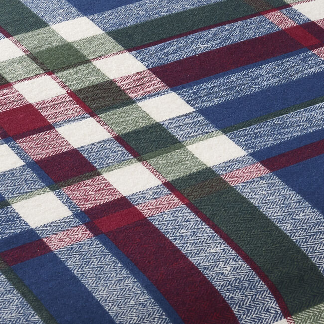 BRUSHED COTTON PATCHWORK CHECK Single Fitted Sheet