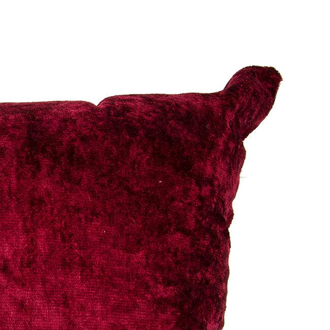 Velvet Crush Cushion Cover 2 Pack 45x45cm - Red