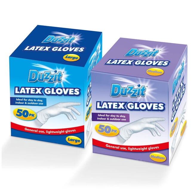 Duzzit Mixed Sized Latex Gloves