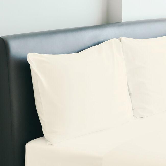 350TC Cotton Housewife Pillowcase Pair - Cream