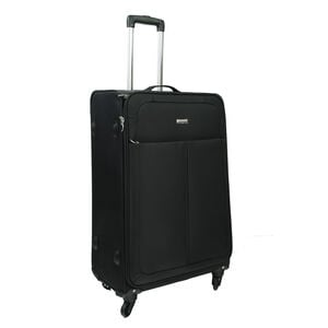 Large Black Lightweight Suitcase