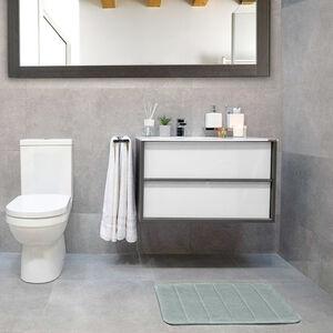 Memory Foam Bath Mat 40x60cm - Dove Grey
