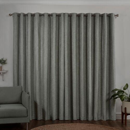 BLACKOUT & THERMAL BASKETWEAVE NAVY  66x90 Curtain