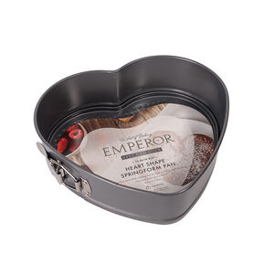 Emperor Grey Non-Stick Heart Shape Springform Pan