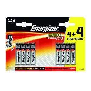 Energizer Max AAA 4+4 Free