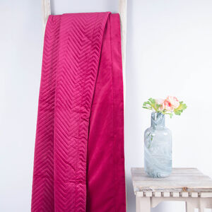 Triangle Stitch Throw 150x200cm - Raspberry
