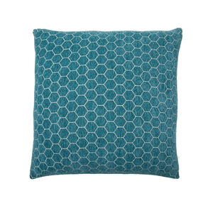 Honeycomb Cushion 45x45cm - Teal