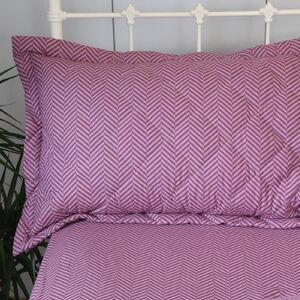 Herringbone Stripe Berry Pillowshams 50cm x 75cm