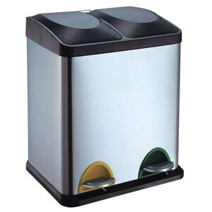 Double Recycling Bin 30L