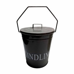 Silverflame Grey Kindling Bucket