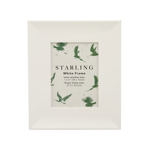 Starling White Photo Frame 5x7""