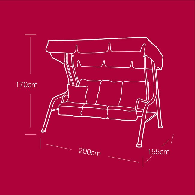 3 Seater Swing Chair Cover 100GSM