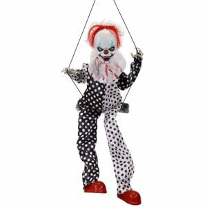 Animated Creepy Laughing Clown on Swing