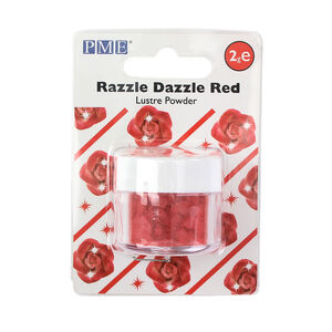 PME Razzle Dazzle Red Lustre Powder 2g