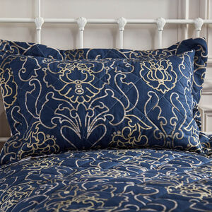 Antoinette Navy Pillowshams 50cm x 75cm