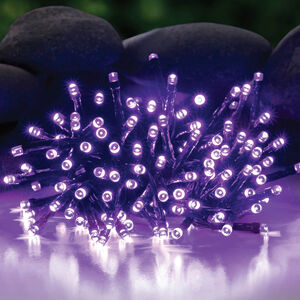 Solar String LED Purple Lights 100 Pack