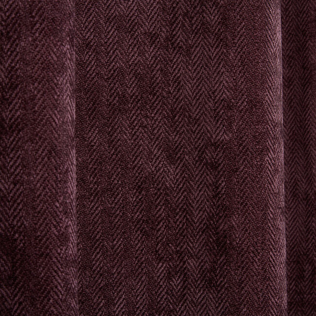 BLACKOUT & THERMAL HERRINGBONE CHENILLE MAUVE 66x5