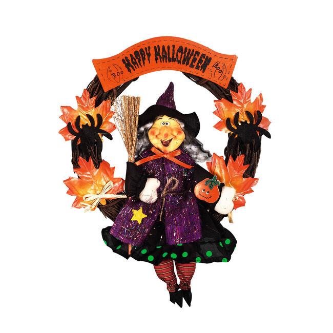 Halloween 41cm Witch Wreath