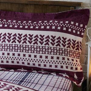 Brushed Cotton Fairisle Trees Pillowcase Pair