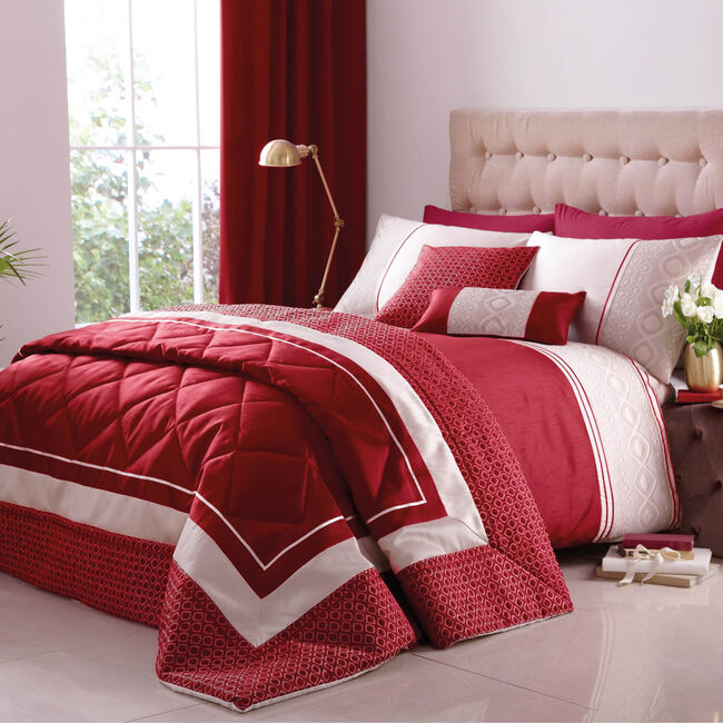 Luxury Geo Red Pillowshams 50cm x 75cm
