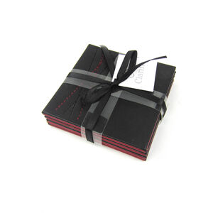 Reversible Diamond Coasters 4 Pack - Black & Red