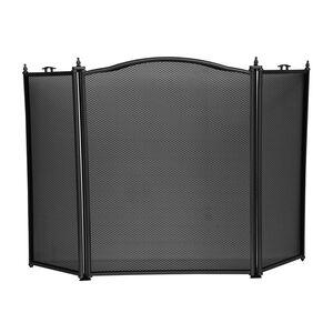 Silverflame 3 Panel Fire Screen - Black