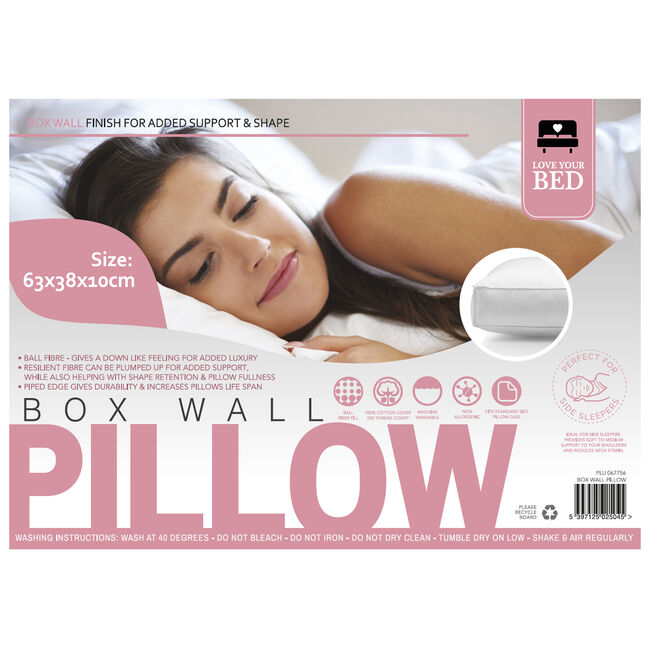 Love Your Bed Box Wall Pillow