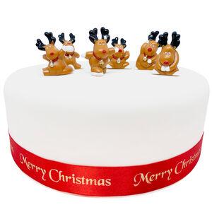 Fun Rudolph Cake Picks - 6 Pack