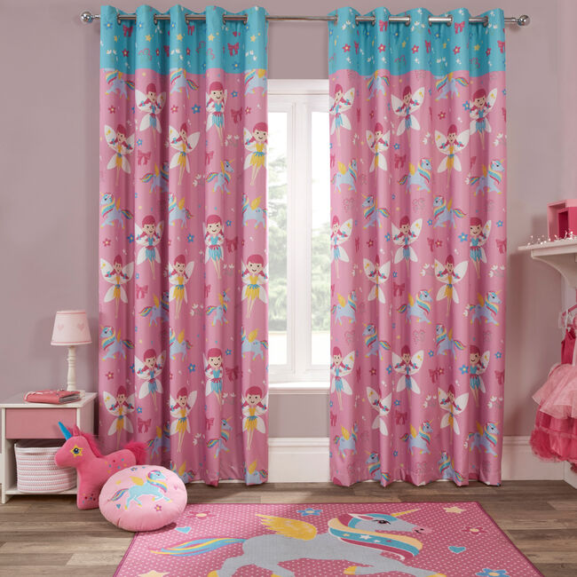 FAIRY UNICORN PINK 66x72 Curtain