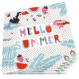 Hello Summer Napkins 20 Pack