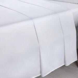 SB FLAT SHEET 500 Threadcount Cotton White
